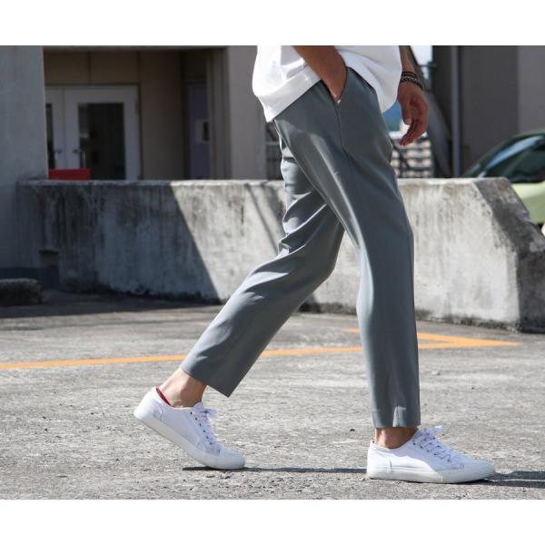 イージーパンツ メンズ アンクルパンツ スラックス 半端丈 ロングパンツ ストレッチ 無地 チェック ファッション (zp081829) D|zip|14