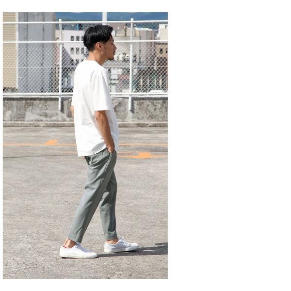 イージーパンツ メンズ アンクルパンツ スラックス 半端丈 ロングパンツ ストレッチ 無地 チェック ファッション (zp081829) D|zip|15
