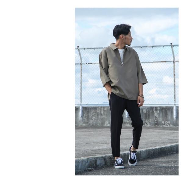 イージーパンツ メンズ アンクルパンツ スラックス 半端丈 ロングパンツ ストレッチ 無地 チェック ファッション (zp081829) D|zip|10