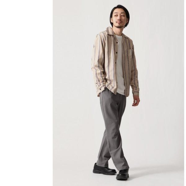 テーパードパンツ メンズ ワイドパンツ スラックス スーツ生地 ストレッチ 無地 チェック イージーパンツ ファッション (zp081830) D|zip|14