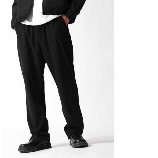 テーパードパンツ メンズ ワイドパンツ スラックス スーツ生地 ストレッチ 無地 チェック イージーパンツ ファッション (zp081830) D|zip|17