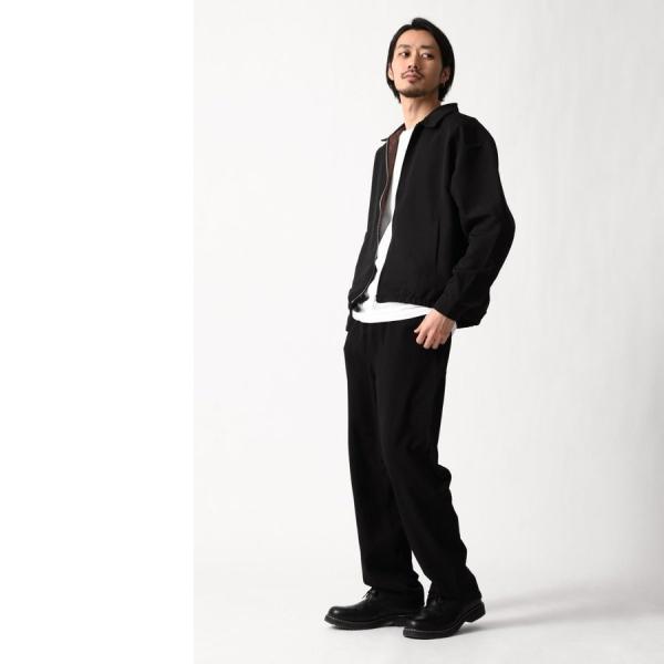 テーパードパンツ メンズ ワイドパンツ スラックス スーツ生地 ストレッチ 無地 チェック イージーパンツ ファッション (zp081830) D|zip|18