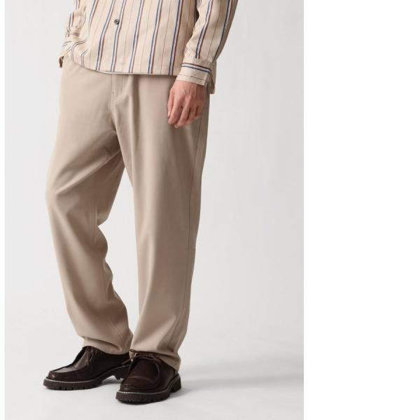 テーパードパンツ メンズ ワイドパンツ スラックス スーツ生地 ストレッチ 無地 チェック イージーパンツ ファッション (zp081830) D|zip|19