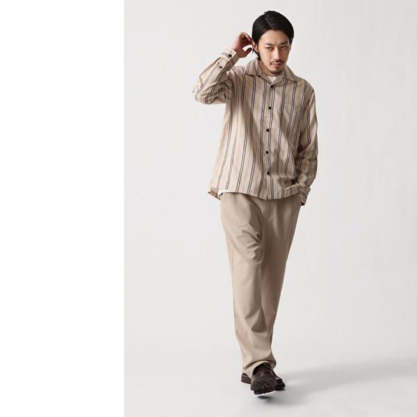 テーパードパンツ メンズ ワイドパンツ スラックス スーツ生地 ストレッチ 無地 チェック イージーパンツ ファッション (zp081830) D|zip|20