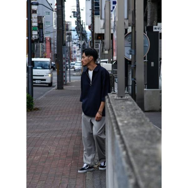 テーパードパンツ メンズ ワイドパンツ スラックス スーツ生地 ストレッチ 無地 チェック イージーパンツ ファッション (zp081830) D|zip|10