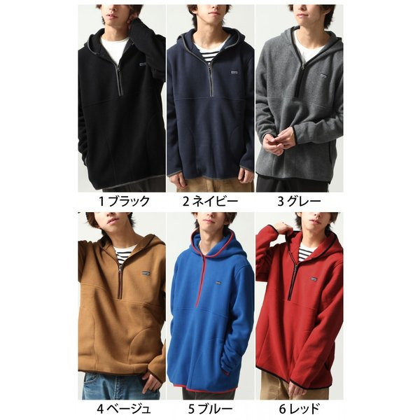 フリースジャケット メンズ パーカー ジップアップ ハーフジップ フリース 長袖 無地 暖か 新作 ファッション ポイント消化 (zp317520)|zip|02