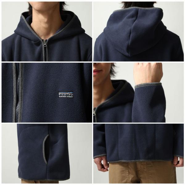 フリースジャケット メンズ パーカー ジップアップ ハーフジップ フリース 長袖 無地 暖か 新作 ファッション ポイント消化 (zp317520)|zip|03