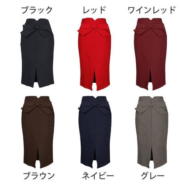 スカート ひざ丈 タイトスカート 膝丈 スカート タイト スリット S M L XL 3L ブラック レッド ワインレッド ネイビー グレー ブラウン 送料無料|zipangu-store|10