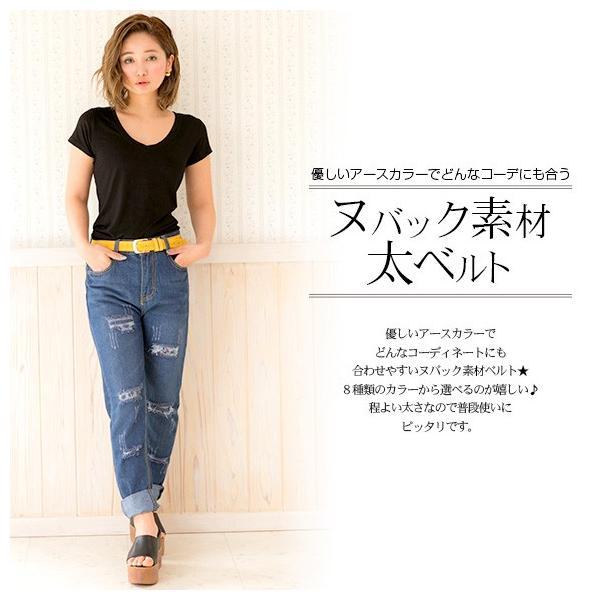 ベルト レディース 太ベルト カジュアル おしゃれ アースカラー 黒 白 ブラウン キャメル|zipangu-store|14