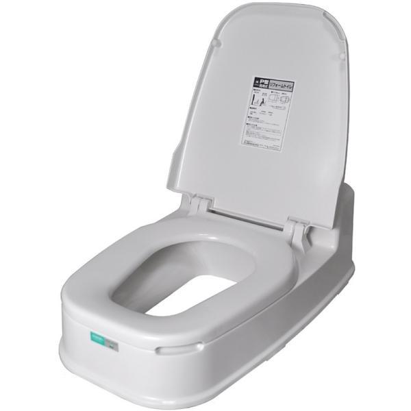 和式 洋式 トイレ リフォーム リフォームトイレ 簡易 簡単 変更 介護 P型両用式 普及タイプ 山崎産業 コンドル|zkz|02