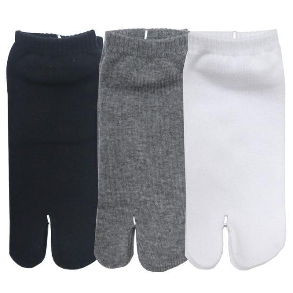 3足セット 足袋型2本指綿混素材スニーカー丈ソックスくるぶし丈メール便対応レディース靴下足袋型ソックス