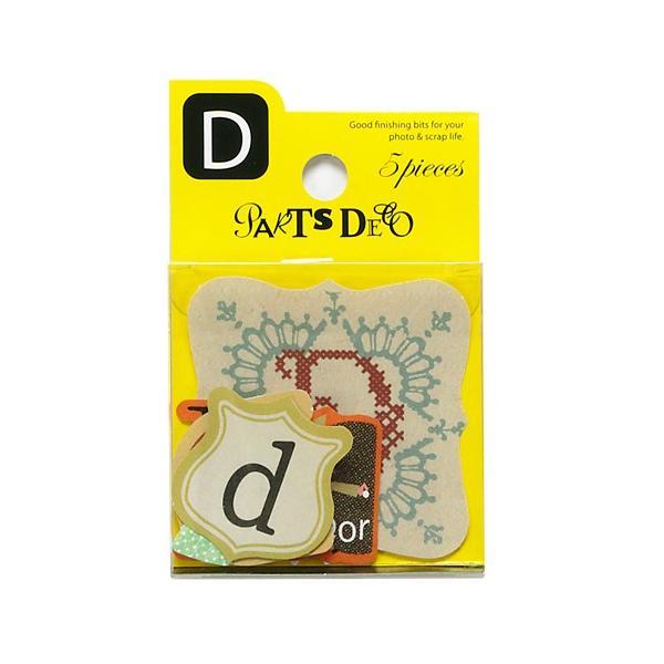 PARTS DECO D パーツデコ ゼットアンドケイ 贈り物 プレゼント ギフト  スクラップブッキング ペーパー アルファベット ミニアルバム 材料 [M便 3/25]|zonart-kamika