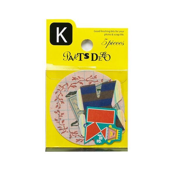 PARTS DECO K パーツデコ ゼットアンドケイ 贈り物 プレゼント ギフト  スクラップブッキング ペーパー アルファベット ミニアルバム 材料 [M便 3/25]|zonart-kamika