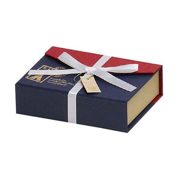 79-007 チョコレートボックス レッド/ネイビーブルー バレンタイン チョコ チョコレート 義理チョコ 大量 手作り キット お菓子 プレゼント ゼットアンドケイ
