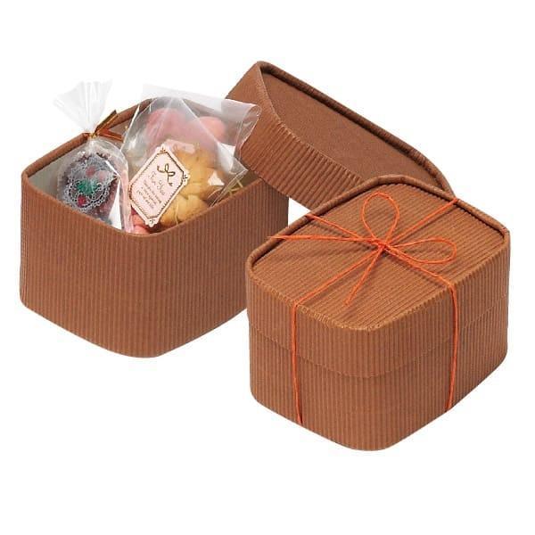 79-024 プチボックス ブラウン バレンタイン チョコ チョコレート 義理チョコ 大量 手作り キット お菓子 プレゼント ゼットアンドケイ
