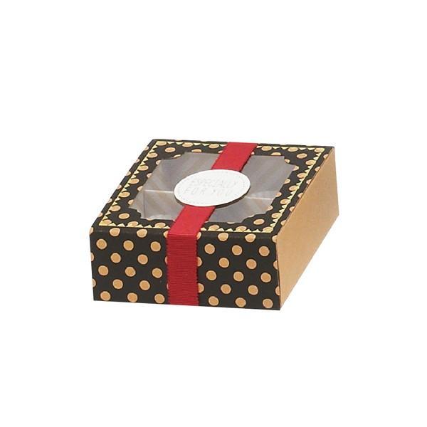 79-051 トリュフボックス ブラック バレンタイン チョコ チョコレート 義理チョコ 大量 手作り キット お菓子 プレゼント ゼットアンドケイ