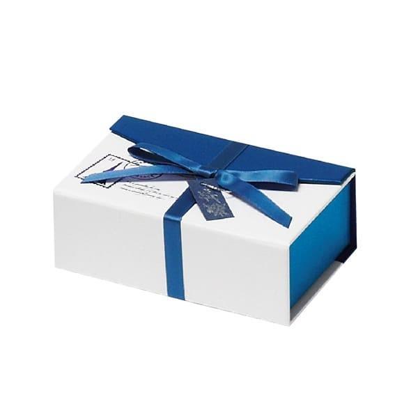 79-066 トリュフボックス ブルー/ホワイト バレンタイン チョコ チョコレート 義理チョコ 大量 手作り キット お菓子 プレゼント ゼットアンドケイ