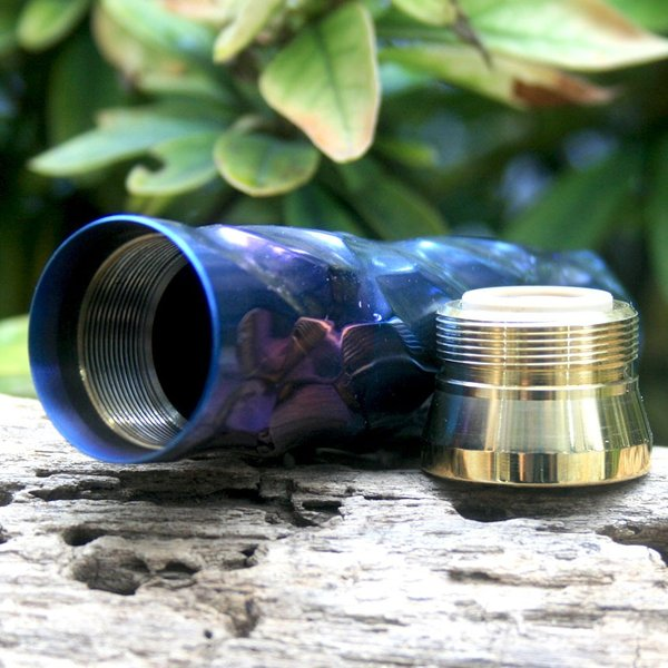 Comp Lyfe(コンプライフ) Flamethrower  Anodized Titanium Mod + Cap  Chameleon|zonovaper|05