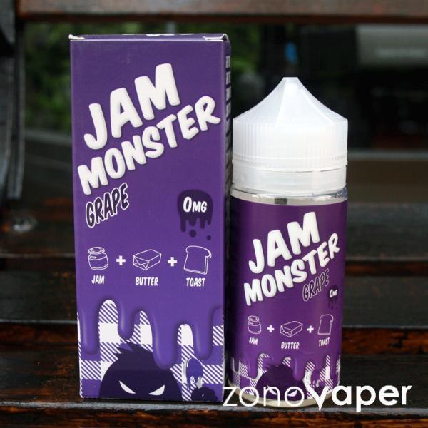 JAM MONSTER(ジャムモンスター) GRAPE(グレープ)100ml  電子タバコ  リキッド ベイプ|zonovaper