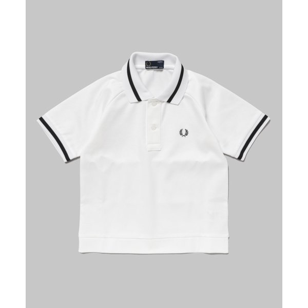 FRED PERRY TEXTURED ラグランスリーブポロシャツ