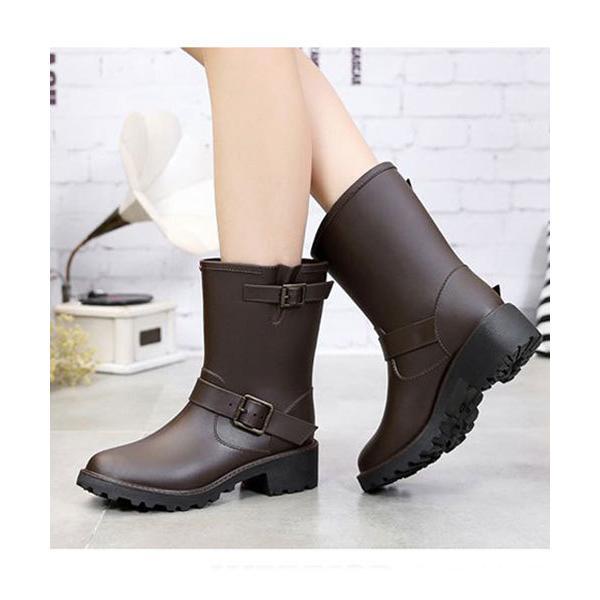 レインシューズ 人気アイテム 長靴に見えない 厚底エンジニアレインブーツ