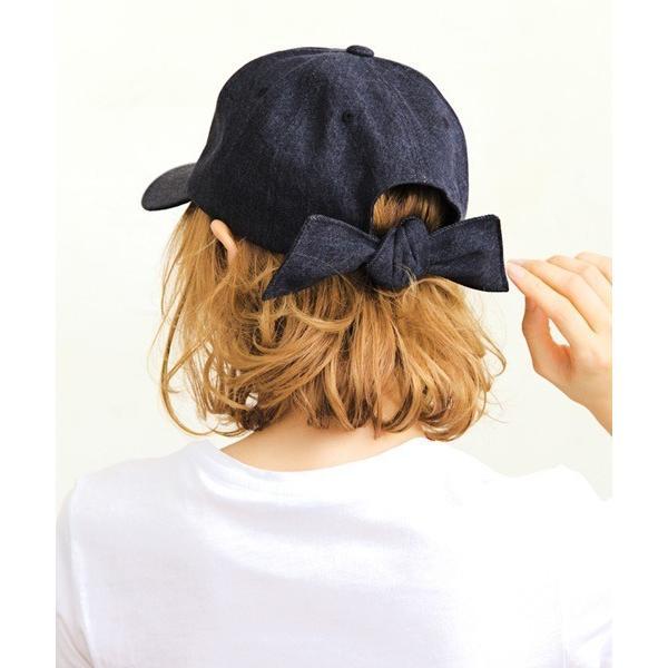 帽子キャップバックリボンキャップ