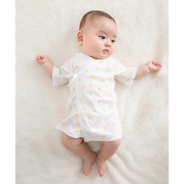 ひよこ柄のフライス短肌着 ピュアベール天使のはぐ 新生児 日本製 肌着 ベビー