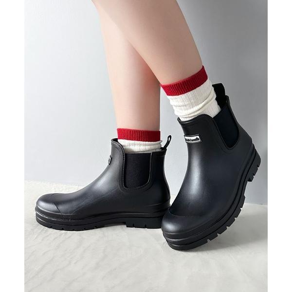 レインシューズサイドゴアショートレインブーツレインシューズ(長靴)