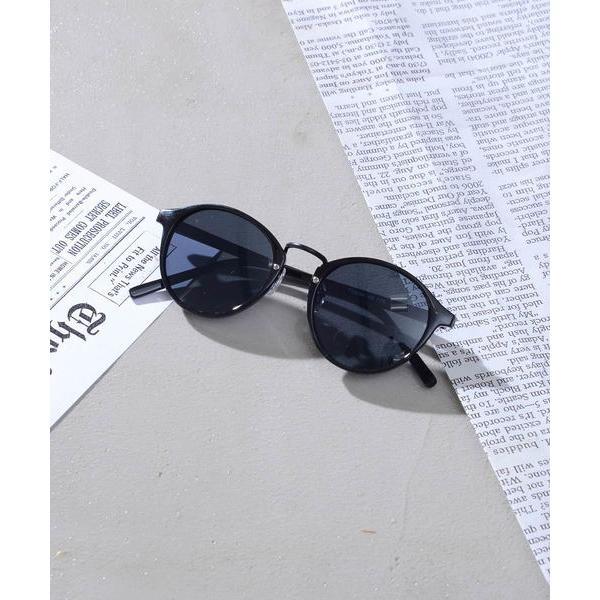 ボストン型 サーモント型 サングラス&だてメガネ カラーレンズ UVプロテクト / ZOZOSJ18-02【+】