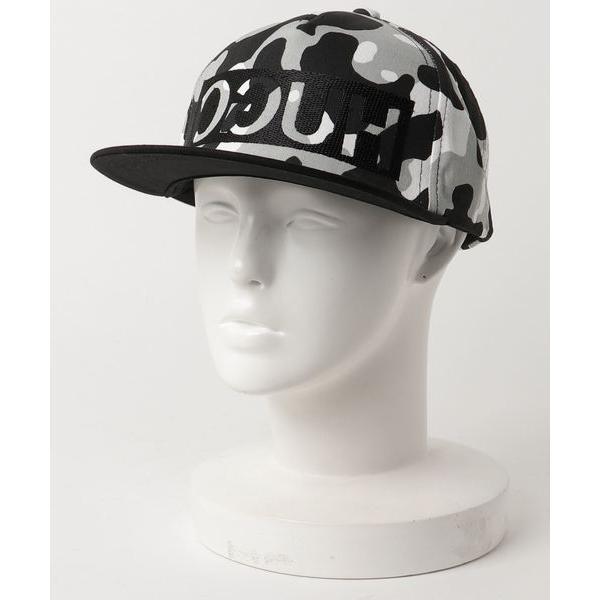 帽子キャップリバースロゴスナップバックキャップインカモフラージュコットンギャバジン