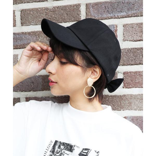 帽子キャップバックリボンコットンキャップ