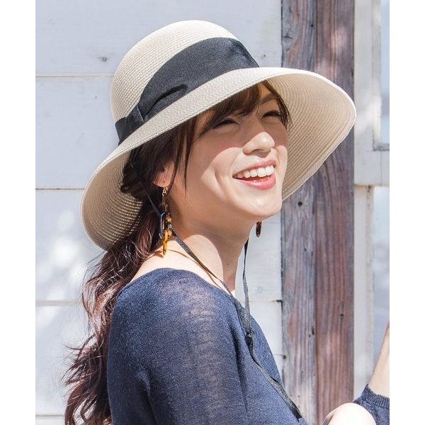 帽子ハットイロドリレディース帽子IRO-SUMMER麦わらハット