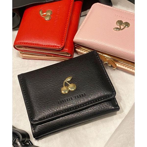 財布チェリーデザインがま口ミニウォレット