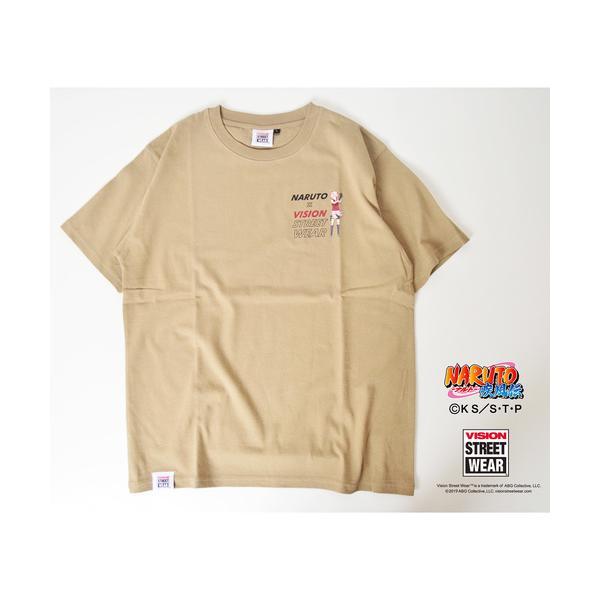 tシャツ Tシャツ 【VISION×NARUTO】ナルトコラボ キャラクター&ロゴプリントクルーネックTシャツ