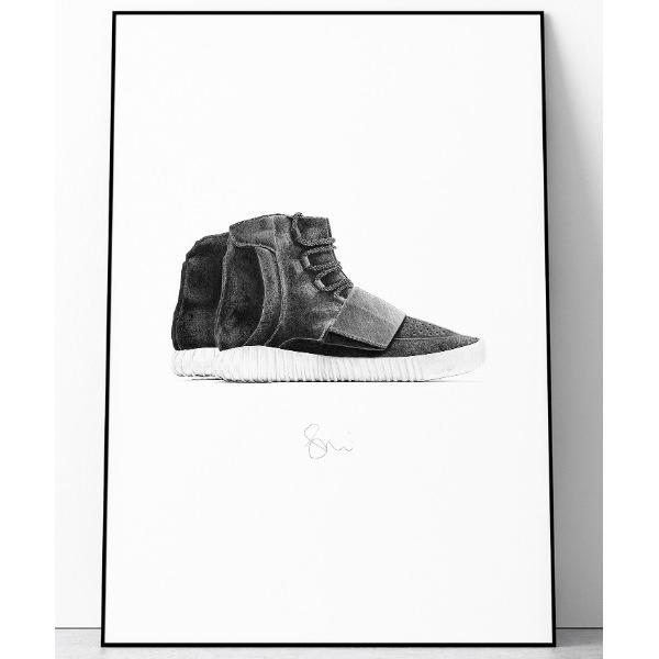 ポスター 『Steph f Morris』adidas Yeezy Boost 750 / アディダス イージーブースト 750 スニーカー 絵画 ア