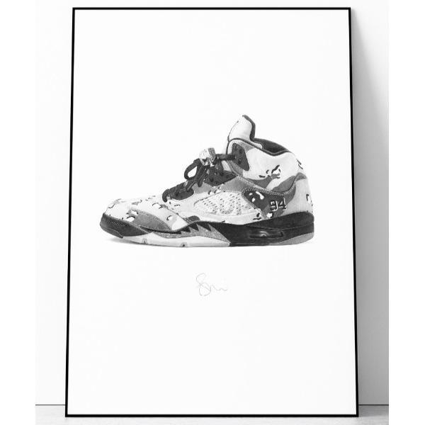 ポスター 『Steph f Morris』Supreme x NIKE Air Jordan 5 / シュプリーム×ナイキ エアジョーダン5 スニーカ