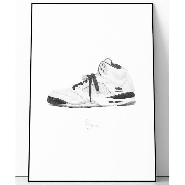 ポスター 『Steph f Morris』NIKE Tokyo Air Jordan 5 / ナイキ トーキョー エアジョーダン5スニーカー 絵画 ア