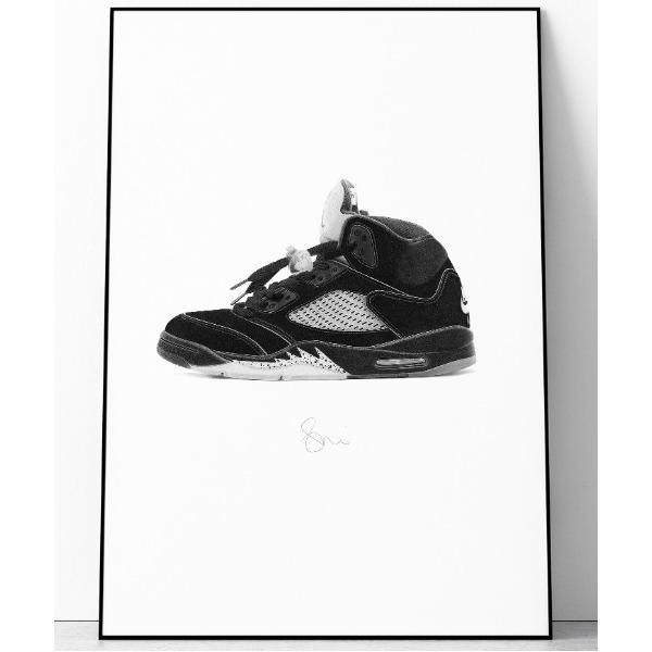 ポスター 『Steph f Morris』NIKE Air Jordan 5 / ナイキ エアジョーダン5 スニーカー 絵画 アート