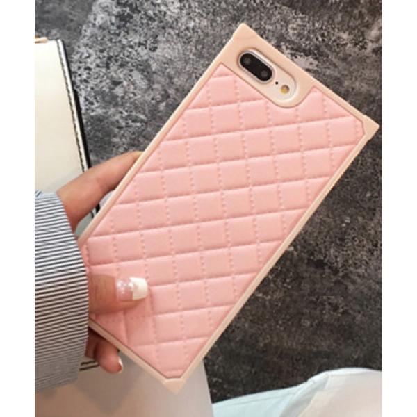 モバイルケース 【c.u.l】スクエア キルティング レザー調 無地 アイフォンケース iPhoneカバー ipc164