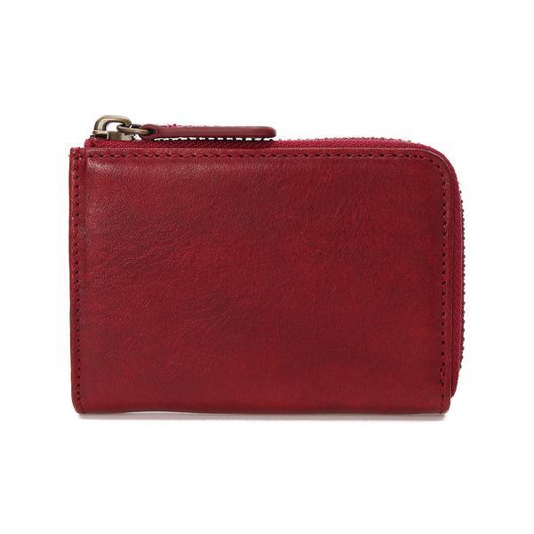 財布<ZONALe/FLAVIO>イタリアンハンドペイントレザー/L字ファスナーミニ財布