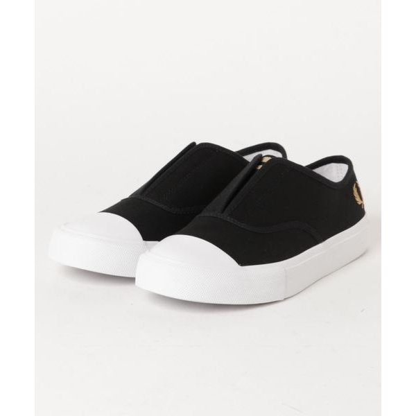 FRED PERRY CANVAS SLIP-ON (BLACK)