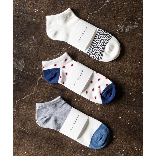 靴下HARUSAKUCCMen'sSneakersocks3Pset:メンズスニーカーソックス3Pセット