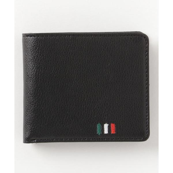 財布イタリアカラー刺繍レザー二つ折り財布