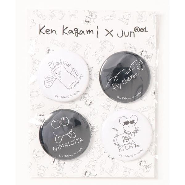 バッジ 【Ken Kagami × JUNRed】コラボ缶バッチ4個SET