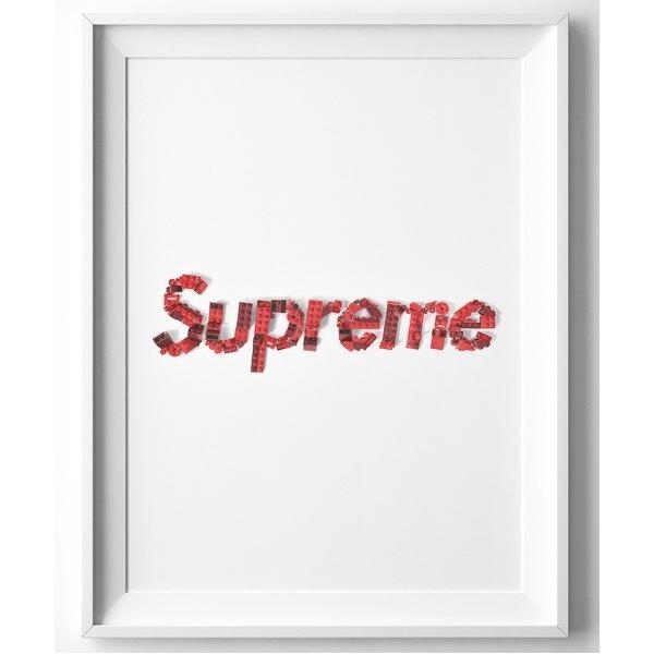 ポスター 『Steph f Morris』Lego Supreme Logo / レゴ シュプリーム ロゴ スニーカー 絵画 アート
