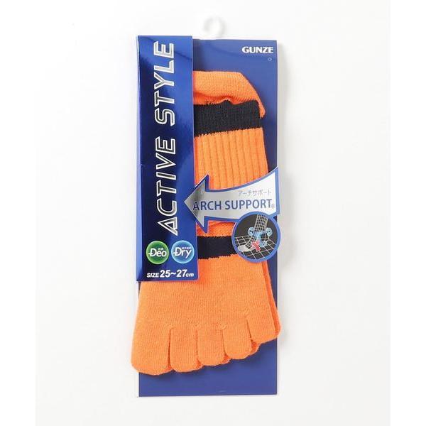 靴下 ACTIVESTYLE(アクティブスタイル) アーチサポート5本指ショートソックス(メンズ)
