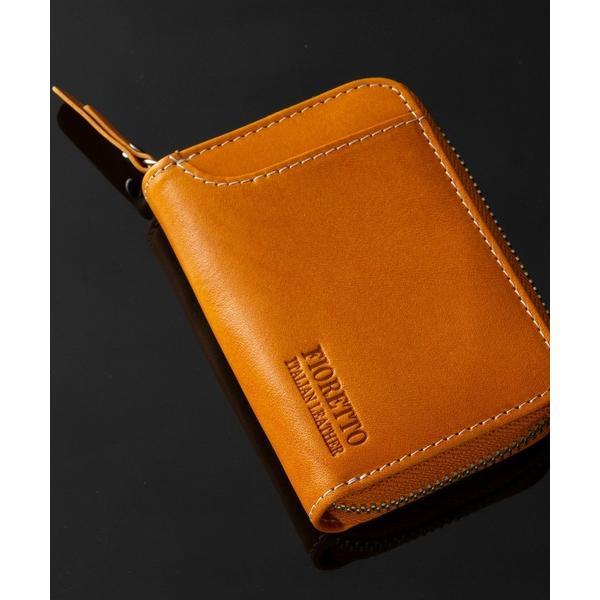 財布牛革イタリアンレザーコンパクト財布(ファスナータイプ)