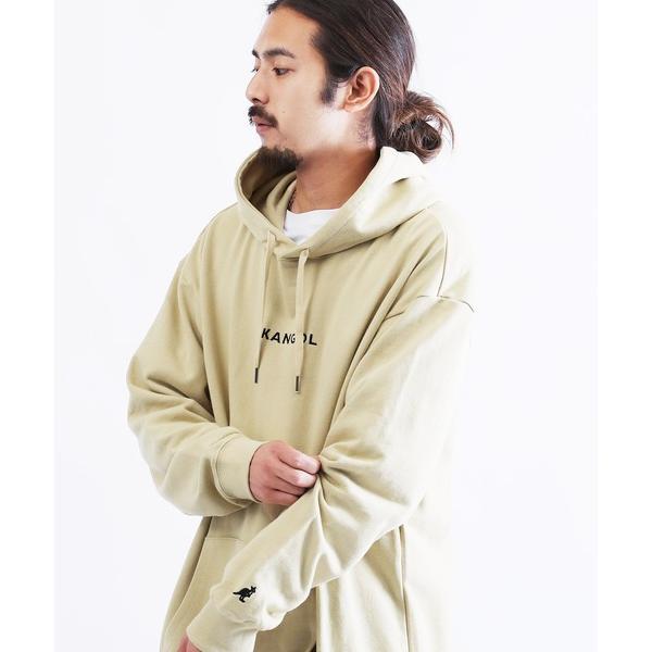 パーカーKANGOL/カンゴール別注コラボ刺繍ロゴスウェットプルパーカー
