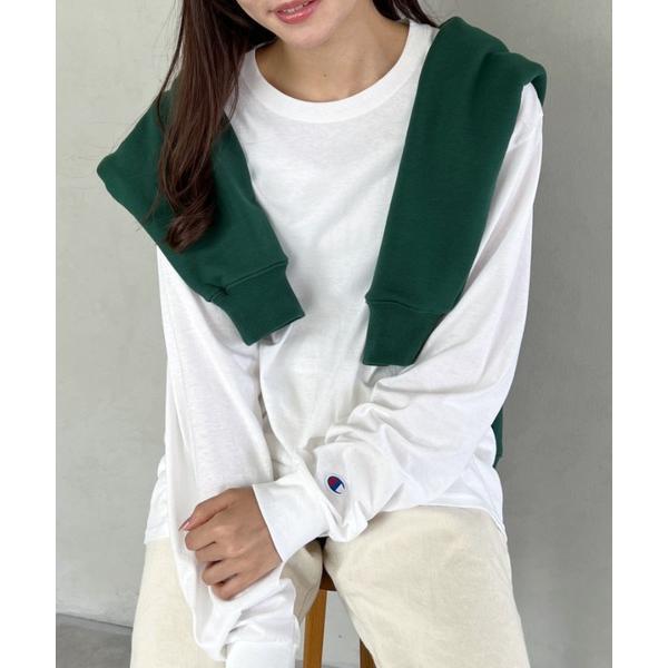 tシャツTシャツ ChampionAuthenticT-SHIRTS レディースチャンピオンスーパーオーバーサイズコットンL/S