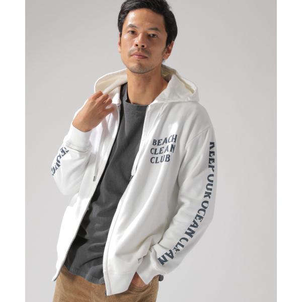 【BEACH CLEAN CLUB(SURFRIDER)】ウラケジップパーカ